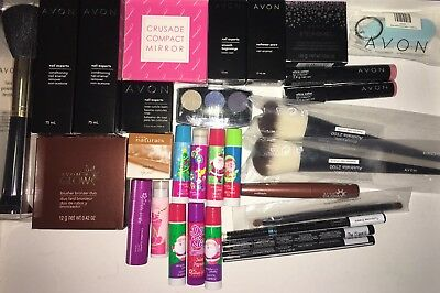 Avon Bulk 30 x Assorted Makeup. Eye Liners, Nail Enamel Removers, Bronzer, Brush
