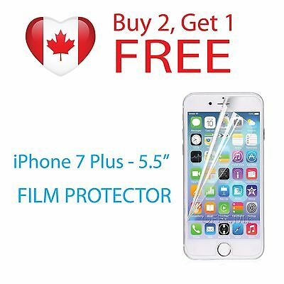"""Clear Protective Film Screen Protector for Apple iPhone 7 PLUS 5.5"""" PET Film"""