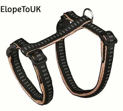 Trixie 4195 Cat Set of Harness and Lead Nylon Assorted color