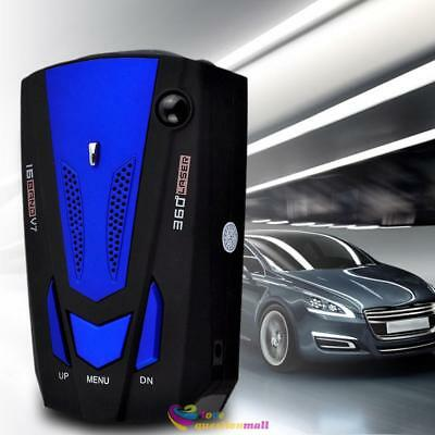 360° Car V7 Radar Sensor Detector GPS Vehicle Speed Limit Monitor Voice Alert