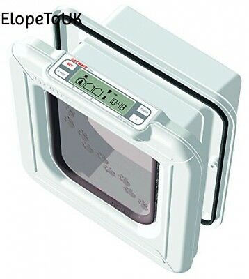 Cat Mate Elite Microchip Flap with Timer Control White