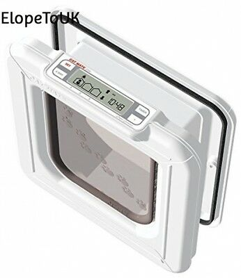 Cat Mate Elite I.D. Disc Flap With Timer Control In White For Cats Without...