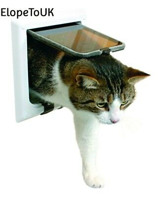 Trixie 38641 4 Way Cat Flap with Tunnel White