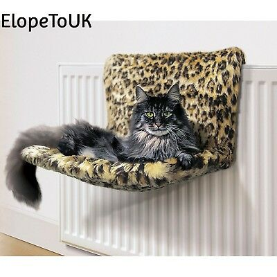 Danish Design Kumfy Kradle Leopard Radiator Cat Bed WIDE