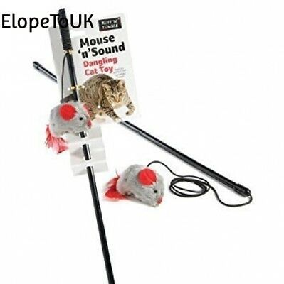 Ruff N Tumble Mouse Sound Dangling Chip Cat Toy Kitten Interactive Pet