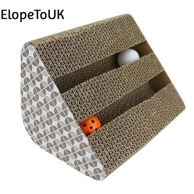 Cat Scratching Pads, Chenci Scratcher Cardboard Toy with Inside bell Balls...