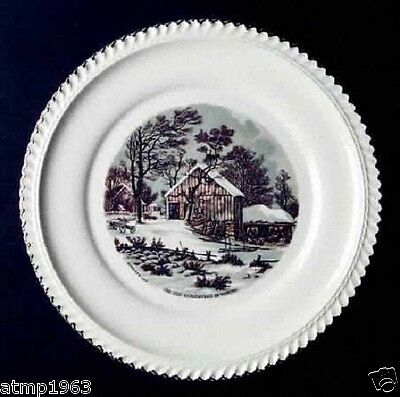 """Currier and Ives 10"""" Dinner Plate by Harker"""