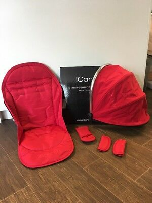 ICandy Original Strawberry Stroller Flavour Colour Pack In Red