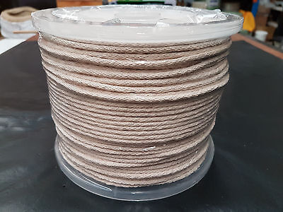 COTTON SASH CORD/ROPE Ø4mm x 250m Reel . TOP QUALITY/Imported. FREE POST