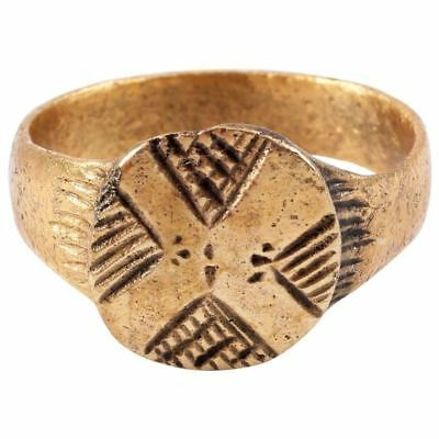 AUTHENTIC MEDIEVAL MAN'S RING, 12th-13th CENTURY Size 11 (JNS355)