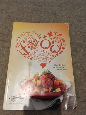 Slimming World Food Optimising Book 2013 Original Red Green & Extra Easy vgc