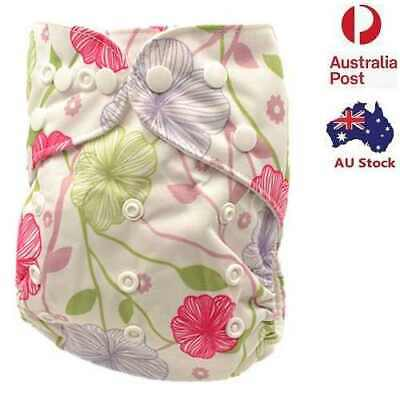 New Absorbent Modern Cloth Nappy Waterproof Outer Layer One Size Nappies (D184)