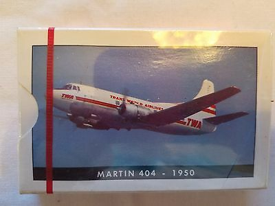 LOT OF 3 Vintage TWA Collector Series Playing Cards - Martin 404 - 1950  Sealed