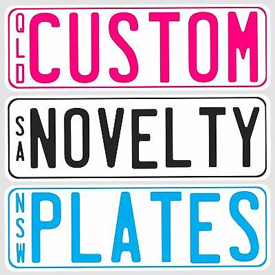 Novelty Customised Mini Kids Car Number Plate With Adhesive Strips Ready To Use