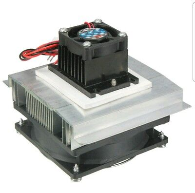 Thermoelectric Peltier Refrigeration Cooling System Kit Cooler Fan TEC1-12705