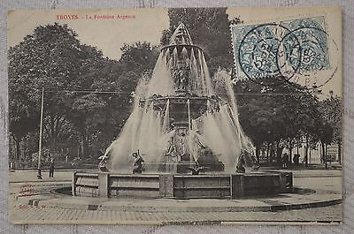 "CPA "" TROYES - La Fontaine Argence"
