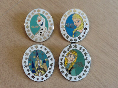 Disney's Booster 4 Pin Set Frozen - Olaf Anna Elsa & Castle - 4 Pins As Shown