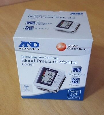 A&D Medical Advanced Wrist Blood Pressure IHB Monitor Compact UB-351 (hyd66336^*