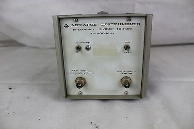 Advance Instruments Frequency Divider TCD500 1-500MHz
