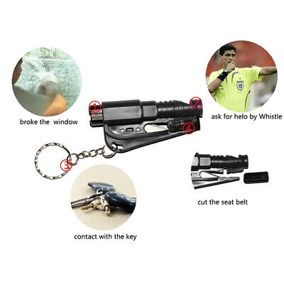 New Portable 3-in-1 Survival Rescue Tool Saving Hammer Seat Belt Cutter Whistle