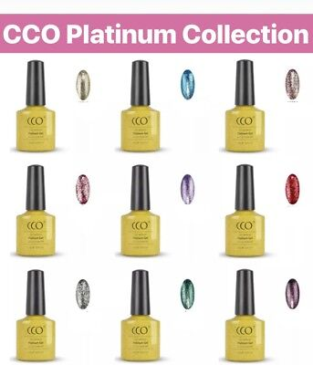 CCO UV/Led Nail Gel Polish. New Exclusive Platinum Diamond Glitter Collection.