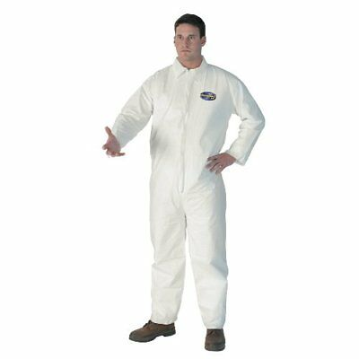 Kimberly Clark 44305 Kleenguard A40 Coveralls Zip Front KCC, XX-Large, White