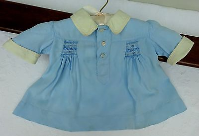 Baby Smock Dress Handmade Smocking Antique Dolls Vintage Early 1900's Edwardian