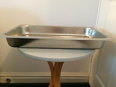 STAINLESS STEEL 1/1 GASTRONORM PAN TRAY DEPTH 65mm RESTAURANT CATERING USE