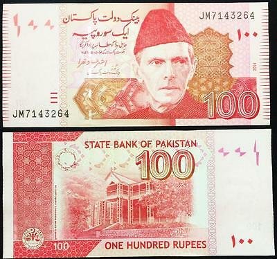Pakistan 100 Rupees Banknote New Unused in Crisp Condition - Collectors Bill
