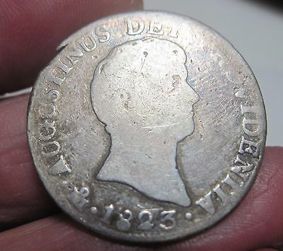 1823 JM (MEXICO) 2 REALES (ITURBIDE) SILVER VERY SCARCE YEAR ---2 year type --