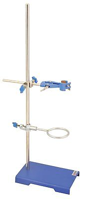 """Chemistry Lab Stand Clamp Tool Iron Cast Support Ring Stand Base 6"""" x 2.5"""""""