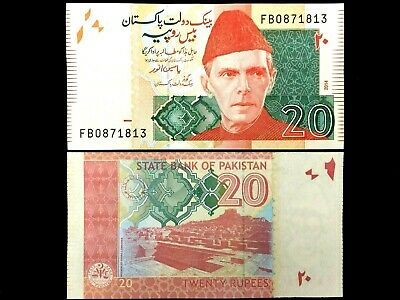 Pakistan 20 Rupees Banknote New Unused in Crisp Condition - Collecters Bill