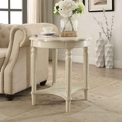 Shabby Chic Accent Table End Side Round Decor