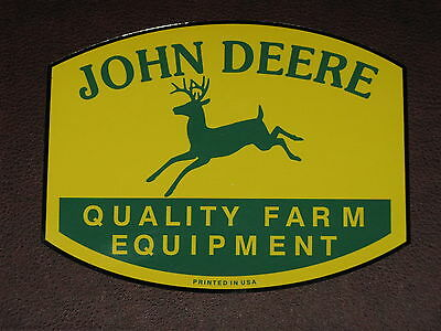 "JOHN DEERE LOGO 7"" QFE 1950's PRINTED IN USA DECAL STICKER TRACTOR GATOR"