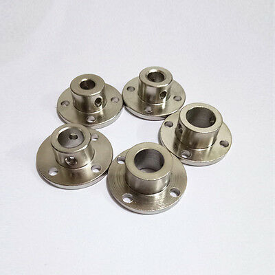 3/4/5/6-12mm  Metal Bearing Seat Rigid Flange Coupling Motor Guide Shaft Coupler