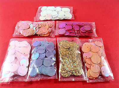840pcs ROUND sequin EMBELLISHMENTS MIX - craft cardmaking sewing toppers