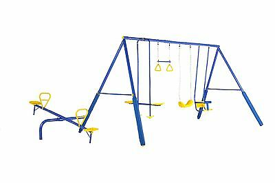 new Swing Set 4 unit with seesaw