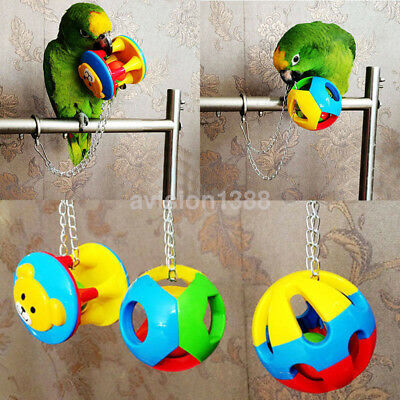 Parrot Chew Toys Bite Ball Bird Cage Swing Hanging Play for Macaw Africa UK