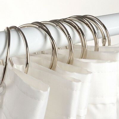 "Stainless Steel & Metal ""O"" Rings Shower Curtain Rings/Hooks New Free Shipping"
