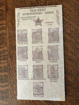 Old West Gunfighters 1860's Postcards Collector Series 31-40, 12 pkgs of 10 each