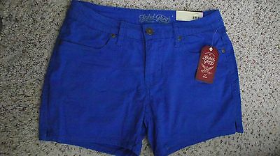 "Women Faded Glory Stretch Blue Blaze Chino Short*Inseam 4.5"" You Choose Size!"