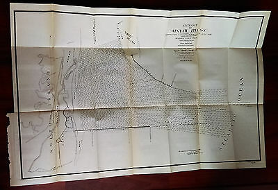 1899 Entrance Winyaw Bay South Carolina Bottle Channel Survey Map Maj Ruffner