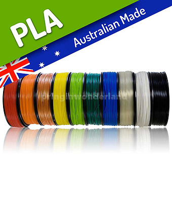 PLA 3D Printing Filament, Australian Made, Local Stock. 1.75 / 3mm