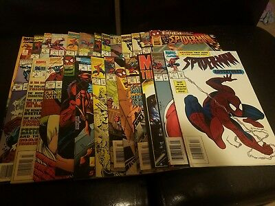 SPIDER-MAN COMIC BOOK LOT OF 24+1  Marvel Year In Review 1994 VARIOUS ISSUES
