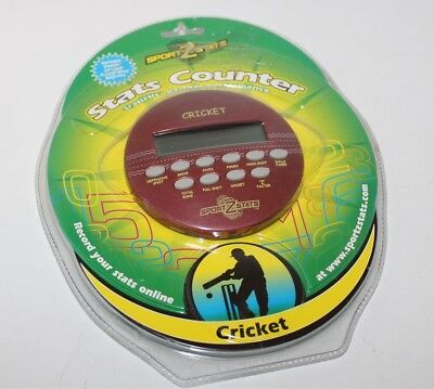 Cricket Sport Z Stats Counter Electronic Handheld Stats Keeper Brand New
