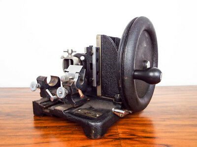 Vintage 1920s 30s Spencer Lens Co Rotary Laboratory Microtome Optical Equipment