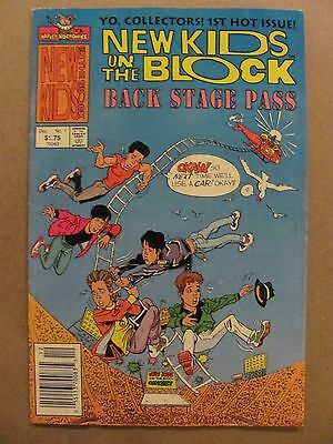 New Kids on the Block Back Stage Pass #1 Harvey 1990 Series Newsstand Editon