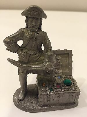 Vintage Spoontiques Pewter Pirate with Treasure M 1630