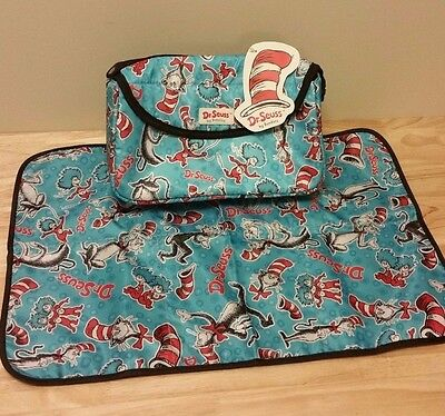 Bumkins Dr. Seuss Diaper Clutch Bag Change Pad Cat In The Hat Thing
