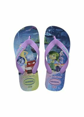 Havaianas Brazil Girls Kids In Side Out Soft Lilac Flip Flops Sandals All Sizes